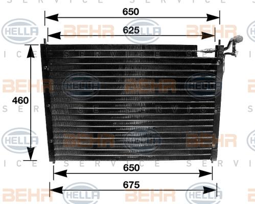 Condenseur / Radiateur de climatisation HELLA 8FC 351 035-011 (X1)