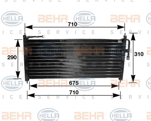 Condenseur / Radiateur de climatisation HELLA 8FC 351 035-021 (X1)