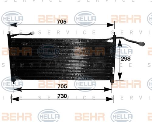 Condenseur / Radiateur de climatisation HELLA 8FC 351 035-101 (X1)