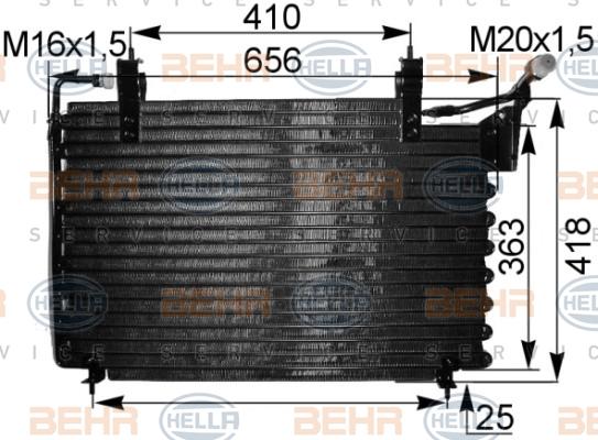 Condenseur / Radiateur de climatisation HELLA 8FC 351 036-711 (X1)