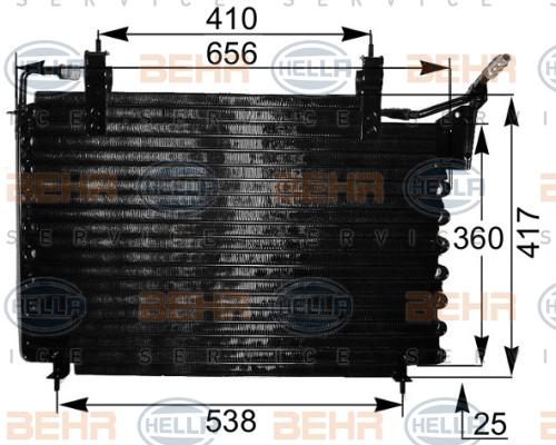 Condenseur / Radiateur de climatisation HELLA 8FC 351 036-781 (X1)