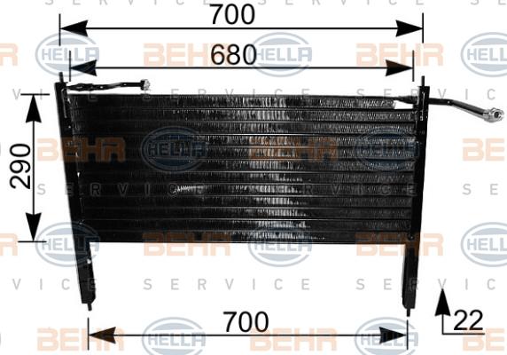 Condenseur / Radiateur de climatisation HELLA 8FC 351 037-031 (X1)