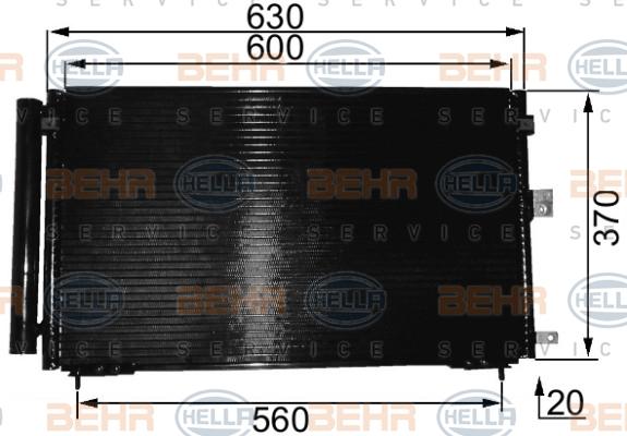 Condenseur / Radiateur de climatisation HELLA 8FC 351 037-661 (X1)