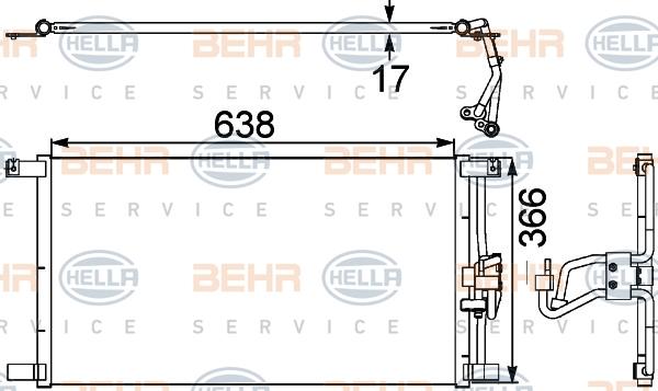 Condenseur / Radiateur de climatisation HELLA 8FC 351 038-481 (X1)