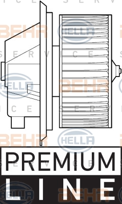 Chauffage et climatisation HELLA 8EW 351 039-341 (X1)
