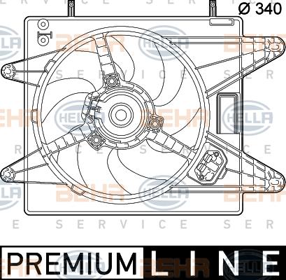 Ventilateur de radiateur HELLA 8EW 351 039-431 (X1)