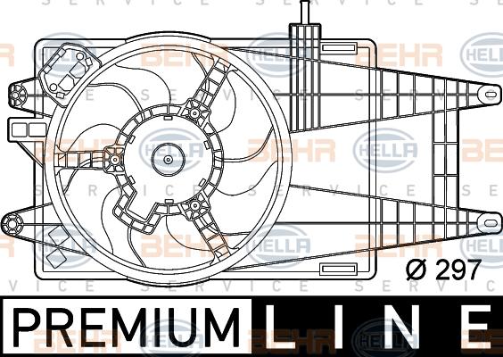 Ventilateur de radiateur HELLA 8EW 351 039-581 (X1)