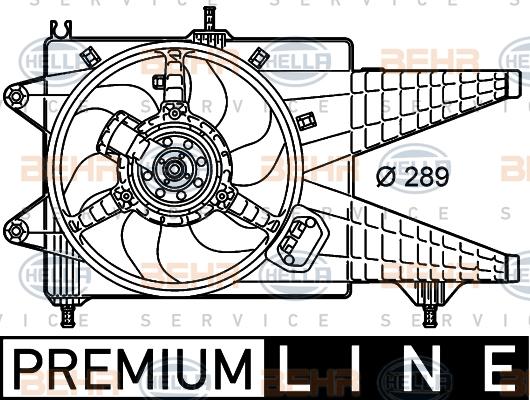 Ventilateur de radiateur HELLA 8EW 351 039-651 (X1)