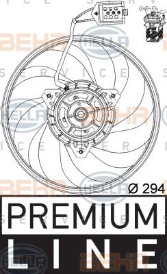 Ventilateur de condenseur HELLA 8EW 351 039-691 (X1)