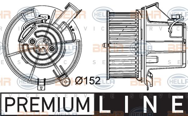 Chauffage et climatisation HELLA 8EW 351 040-301 (X1)