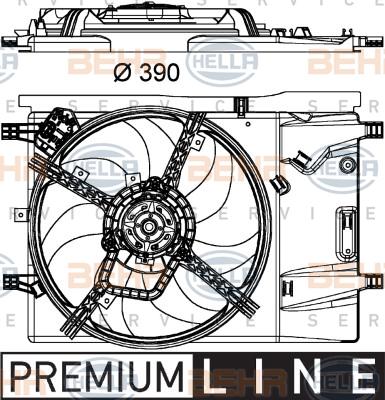 Ventilateur de radiateur HELLA 8EW 351 040-331 (X1)