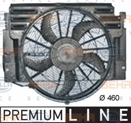 Ventilateur de condenseur HELLA 8EW 351 040-661 (X1)
