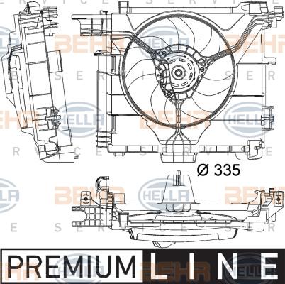 Ventilateur de radiateur HELLA 8EW 351 041-181 (X1)