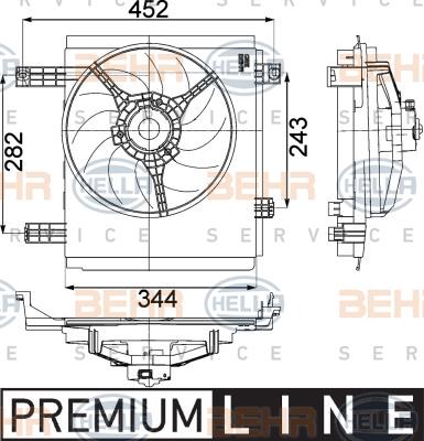 Ventilateur de radiateur HELLA 8EW 351 041-251 (X1)