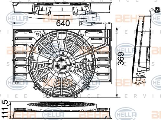 Ventilateur de condenseur HELLA 8EW 351 041-281 (X1)