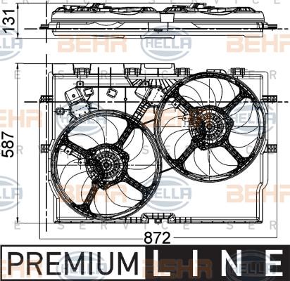 Ventilateur de radiateur HELLA 8EW 351 041-431 (X1)