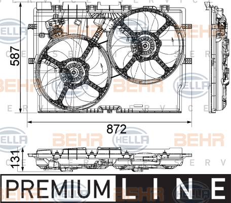 Ventilateur de radiateur HELLA 8EW 351 041-451 (X1)