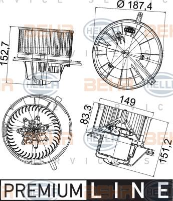 Chauffage et climatisation HELLA 8EW 351 043-211 (X1)
