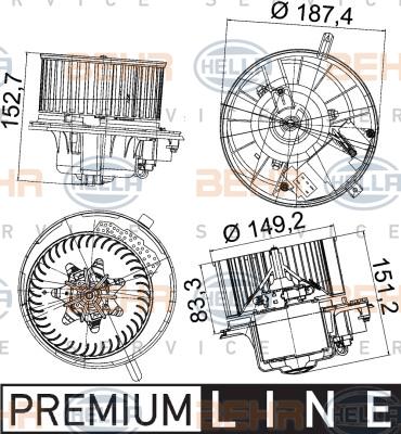 Chauffage et climatisation HELLA 8EW 351 043-221 (X1)