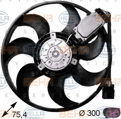 Ventilateur de radiateur HELLA 8EW 351 043-241 (X1)