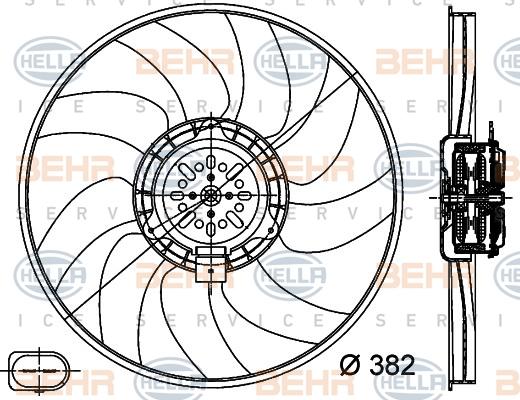 Ventilateur de radiateur HELLA 8EW 351 044-351 (X1)