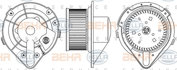 Chauffage et climatisation HELLA 8EW 351 044-371 (X1)
