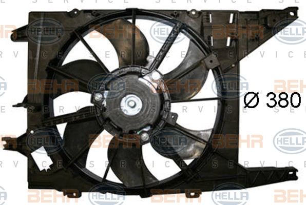 Ventilateur de radiateur HELLA 8EW 351 044-521 (X1)