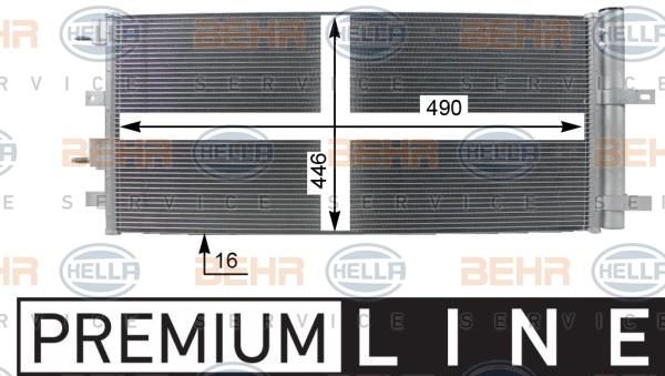 Condenseur / Radiateur de climatisation HELLA 8FC 351 100-751 (X1)
