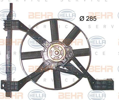 Ventilateur de radiateur HELLA 8EW 351 150-251 (X1)