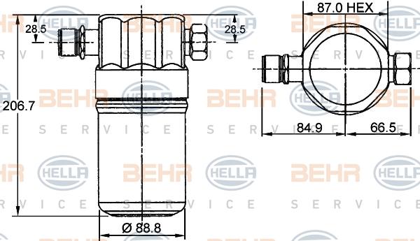 Bouteille deshydratante HELLA 8FT 351 192-041 (X1)