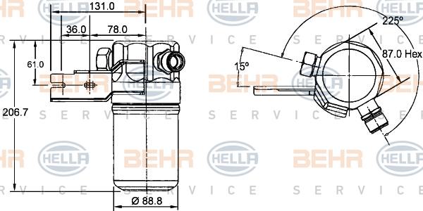 Bouteille deshydratante HELLA 8FT 351 192-391 (X1)