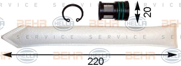 Bouteille deshydratante HELLA 8FT 351 193-091 (X1)