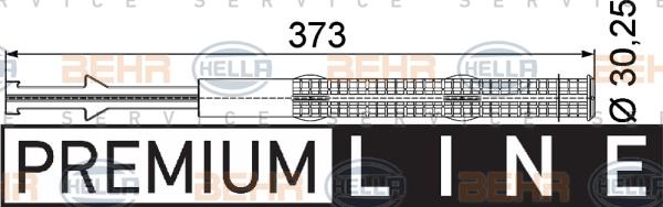 Bouteille deshydratante HELLA 8FT 351 197-271 (X1)