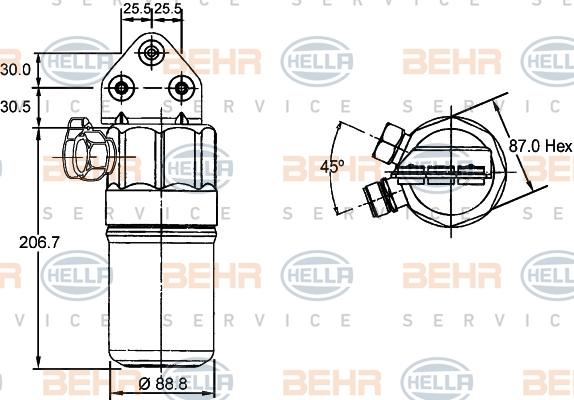 Bouteille deshydratante HELLA 8FT 351 197-321 (X1)
