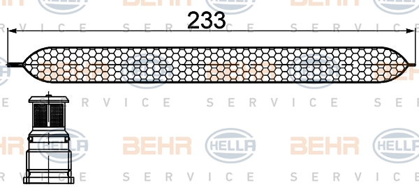 Bouteille deshydratante HELLA 8FT 351 200-251 (X1)