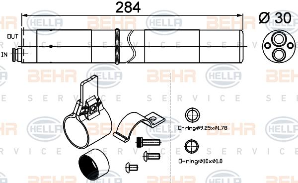 Bouteille deshydratante HELLA 8FT 351 200-274 (X1)