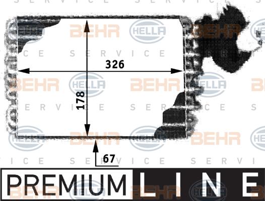 Evaporateur HELLA 8FV 351 210-121 (X1)