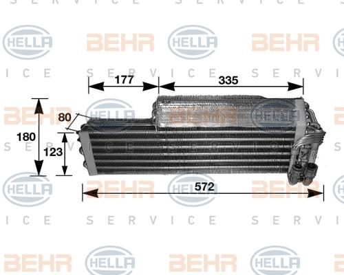 Evaporateur HELLA 8FV 351 210-291 (X1)