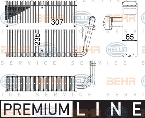 Evaporateur HELLA 8FV 351 211-261 (X1)