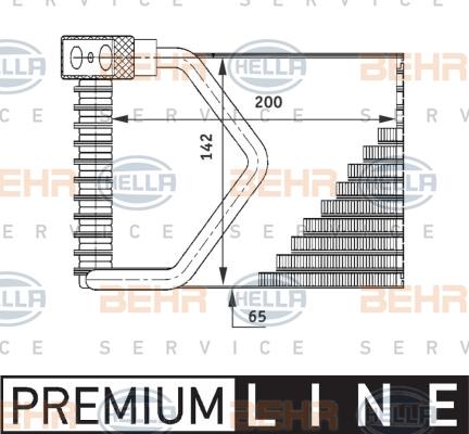 Evaporateur HELLA 8FV 351 211-271 (X1)