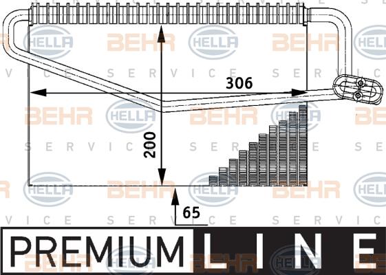 Evaporateur HELLA 8FV 351 211-281 (X1)
