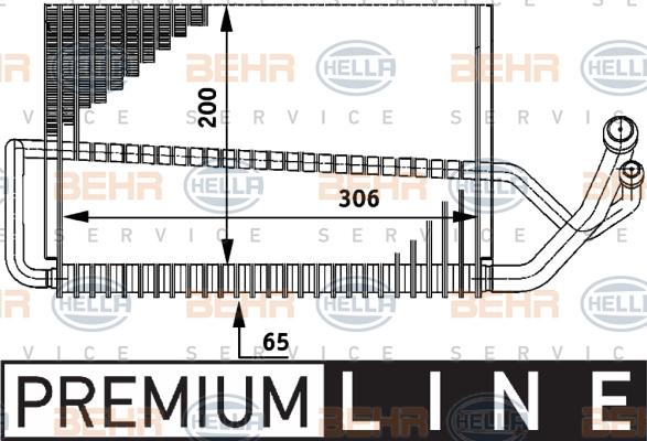 Evaporateur HELLA 8FV 351 211-291 (X1)
