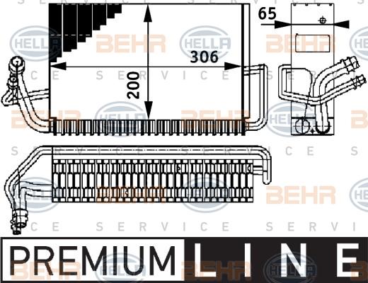 Evaporateur HELLA 8FV 351 211-301 (X1)