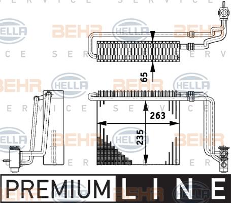 Evaporateur HELLA 8FV 351 211-741 (X1)