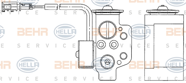 Detendeur de climatisation HELLA 8UW 351 234-611 (X1)