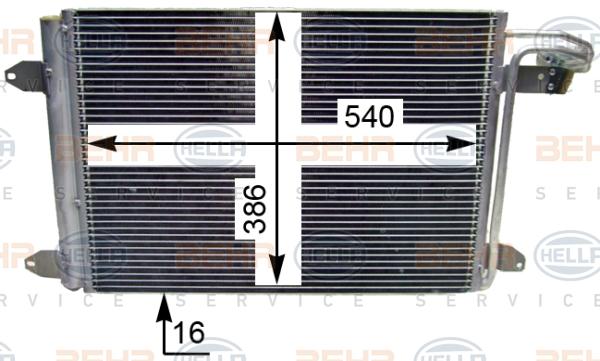 AC Air Condenseur Radiateur ThermoTec KTT110024