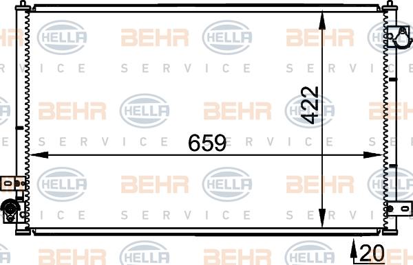 Condenseur / Radiateur de climatisation HELLA 8FC 351 301-231 (X1)