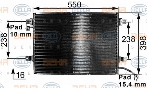 Condenseur / Radiateur de climatisation HELLA 8FC 351 301-251 (X1)