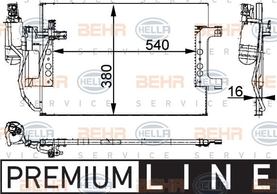 Hella 8fc 351 301-394 Condensateur Climatisation pour MERCEDES-BENZ