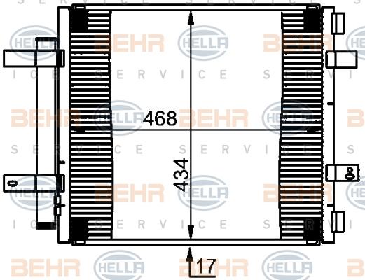 Condenseur / Radiateur de climatisation HELLA 8FC 351 301-591 (X1)